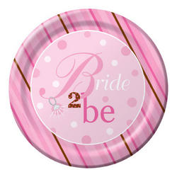Bride To Be Plates - 8 Count