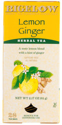 Bigelow Lemon Ginger Herbal Tea
