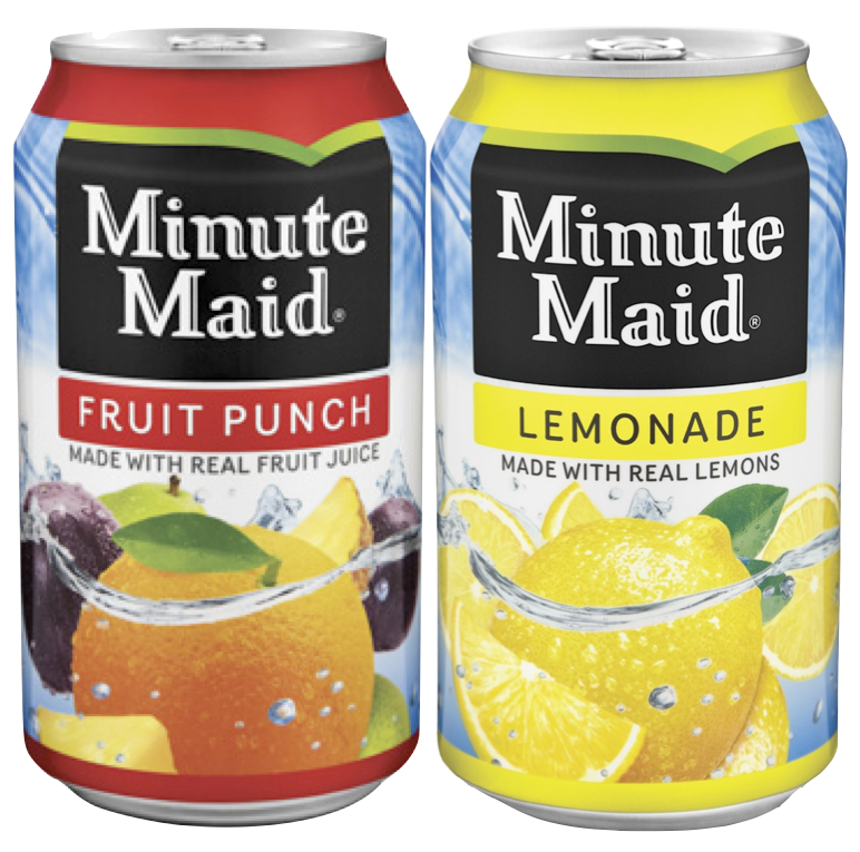 Minute Maid Fruit Punch and Lemonade (12 Packs)