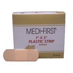 Medi-First Plastic Bandage Strips (100 Count Box)