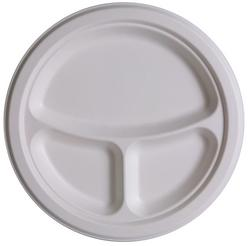 Eco Friendly 3 Compartment Plate 10 (50 Count)