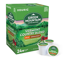 Green Mountain Coffee - Vermont Country Blend DECAF - K- Cups (24 Count)